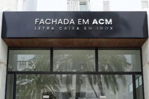 Fachada ACM + Letra caixa Inox